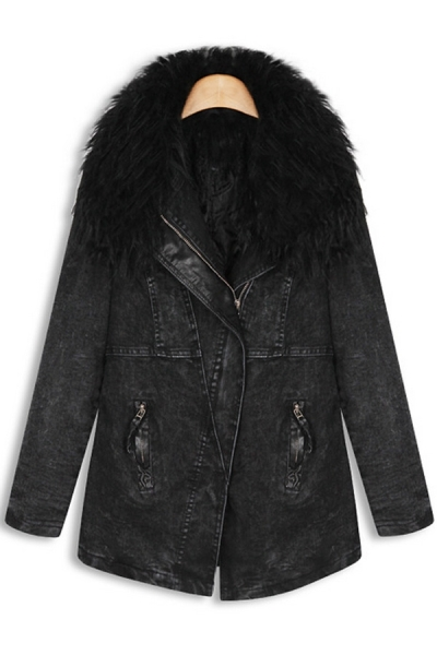 fur-collar-wash-denim-coat